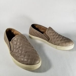 Steve Madden Quilted Faux Leather Slip On Shoes